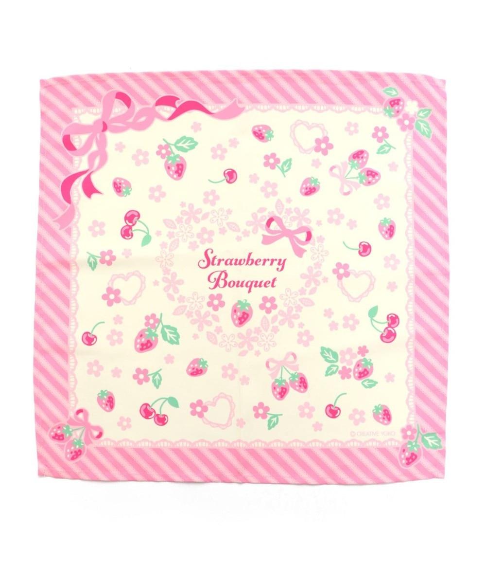 【オンワード】 Mother garden>食器/キッチン マザーガーデン 野いちご ランチクロス 《ブーケ柄》42×42センチ お弁当包 ピンク(濃) 0