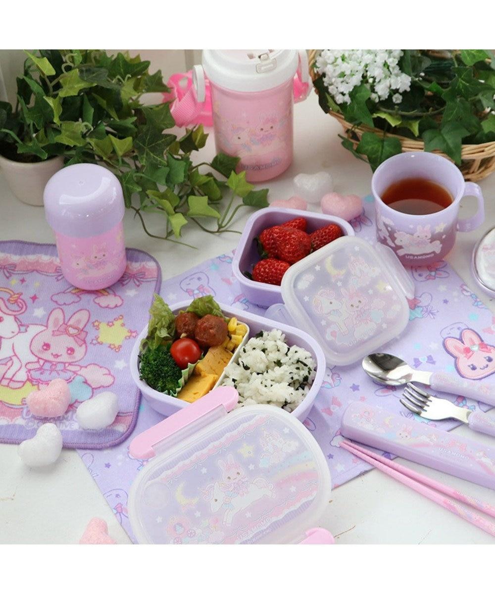 Mother garden うさもも 1段お弁当箱 《ユニコーン柄》 日本製 ランチボックス 食洗機対応 0
