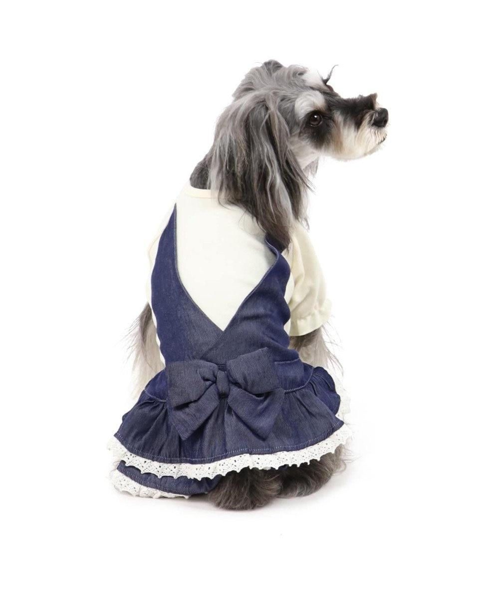 PET PARADISE ペットパラダイス ダンガリー ワンピース〔小型犬〕 紺(ネイビー・インディゴ)