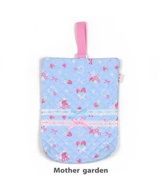 Mother garden マザーガーデン 野いちご 《ブーケ柄》 キルト3点セット 水色