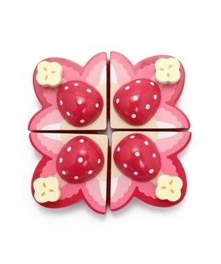 Mother garden マザーガーデン 木製 おままごと 野いちご トーストセット ピンク(淡)