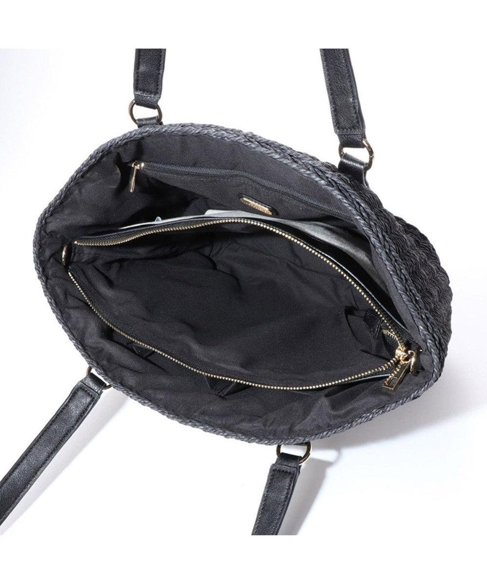 LA BAGAGERIE バッグインバッグ付きペーパーかごバッグMサイズ ブラック
