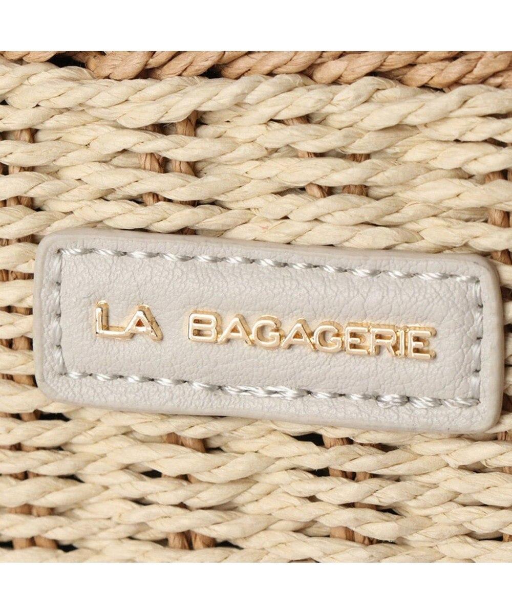 LA BAGAGERIE バッグインバッグ付きペーパーかごバッグMサイズ キャメル