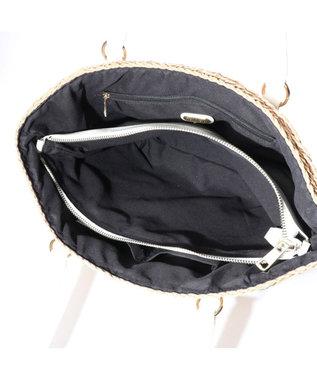 LA BAGAGERIE バッグインバッグ付きペーパーかごバッグMサイズ ベージュ
