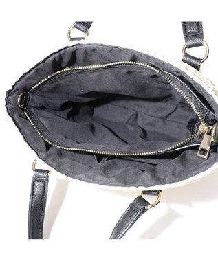 LA BAGAGERIE バッグインバッグ付きペーパーかごバッグMサイズ アイボリー