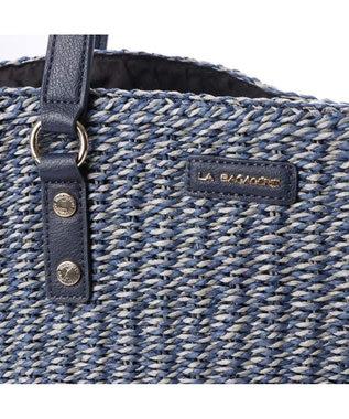 LA BAGAGERIE バッグインバッグ付きペーパーかごバッグMサイズ ネイビー