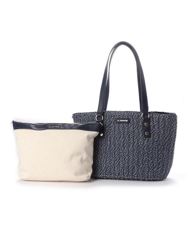 LA BAGAGERIE バッグインバッグ付きペーパーかごバッグMサイズ