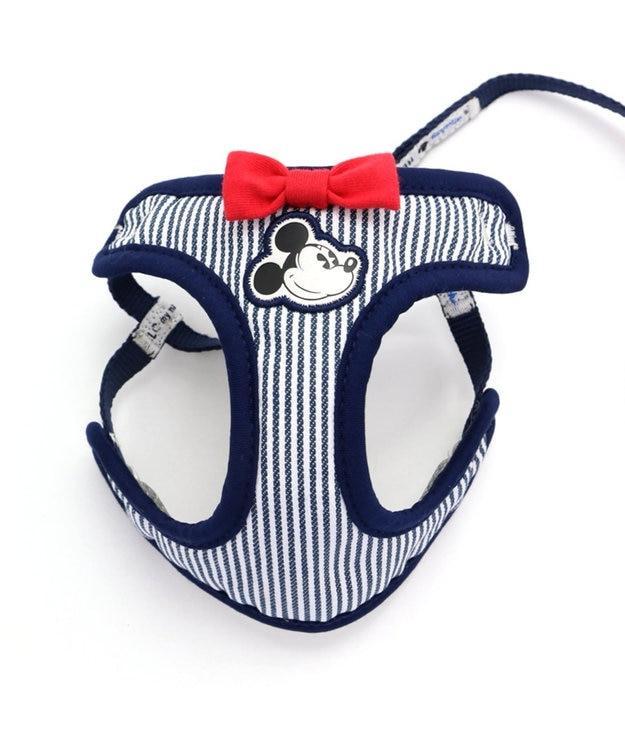 PET PARADISE ミッキーマウス ヒッコリー リード付ハーネス ペット3S