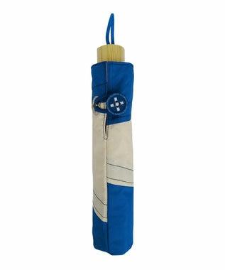 +RING 【プラスリング】【限定/日本製】UNISEX パッチワーク 雨傘(折りたたみ)BLU SR276 青
