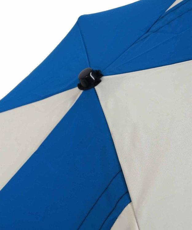 +RING 【プラスリング】【限定/日本製】UNISEX パッチワーク 雨傘(折りたたみ)BLU SR276