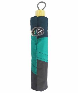 +RING 【プラスリング】【限定/日本製】UNISEX パッチワーク 雨傘(折りたたみ)GRN SR277 緑