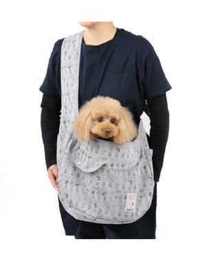 PET PARADISE スヌーピー ペットキャリーバッグM ポケットソフトスリング  〔小型犬〕 グレー