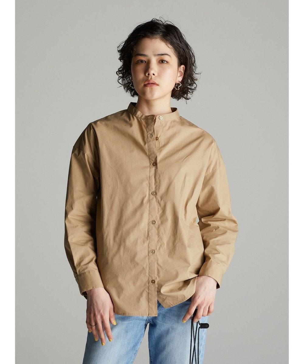 koe バンドカラーシャツ Beige