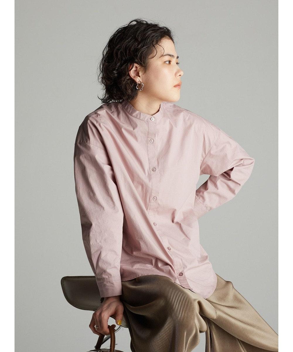 koe バンドカラーシャツ Pink