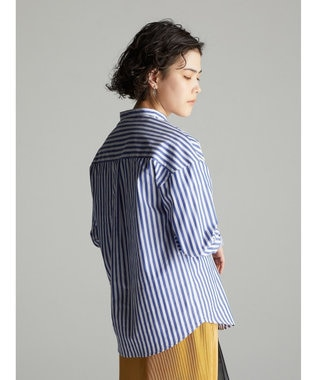 koe バンドカラーシャツ Stripe