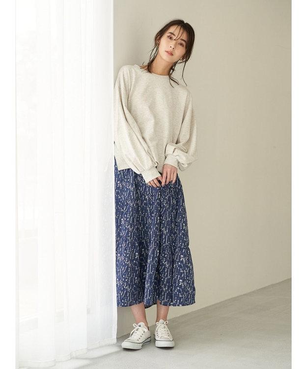 Green Parks ・SUGAR SPOON フラワー変形ティアードスカート