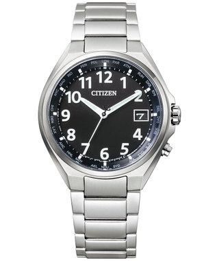 CITIZEN <メンズ>アテッサ エコ・ドライブ電波時計 アラビア数字 CB1120-50F ブラック