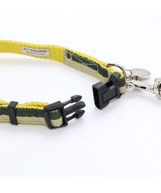 PET PARADISE ペットパラダイス 切替首輪&リード 緑 〔中・大型犬〕ペットSM/M/L 犬具 黄緑