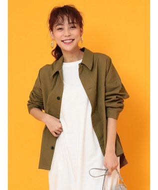Green Parks ・・ワークビッグシャツジャケット Khaki