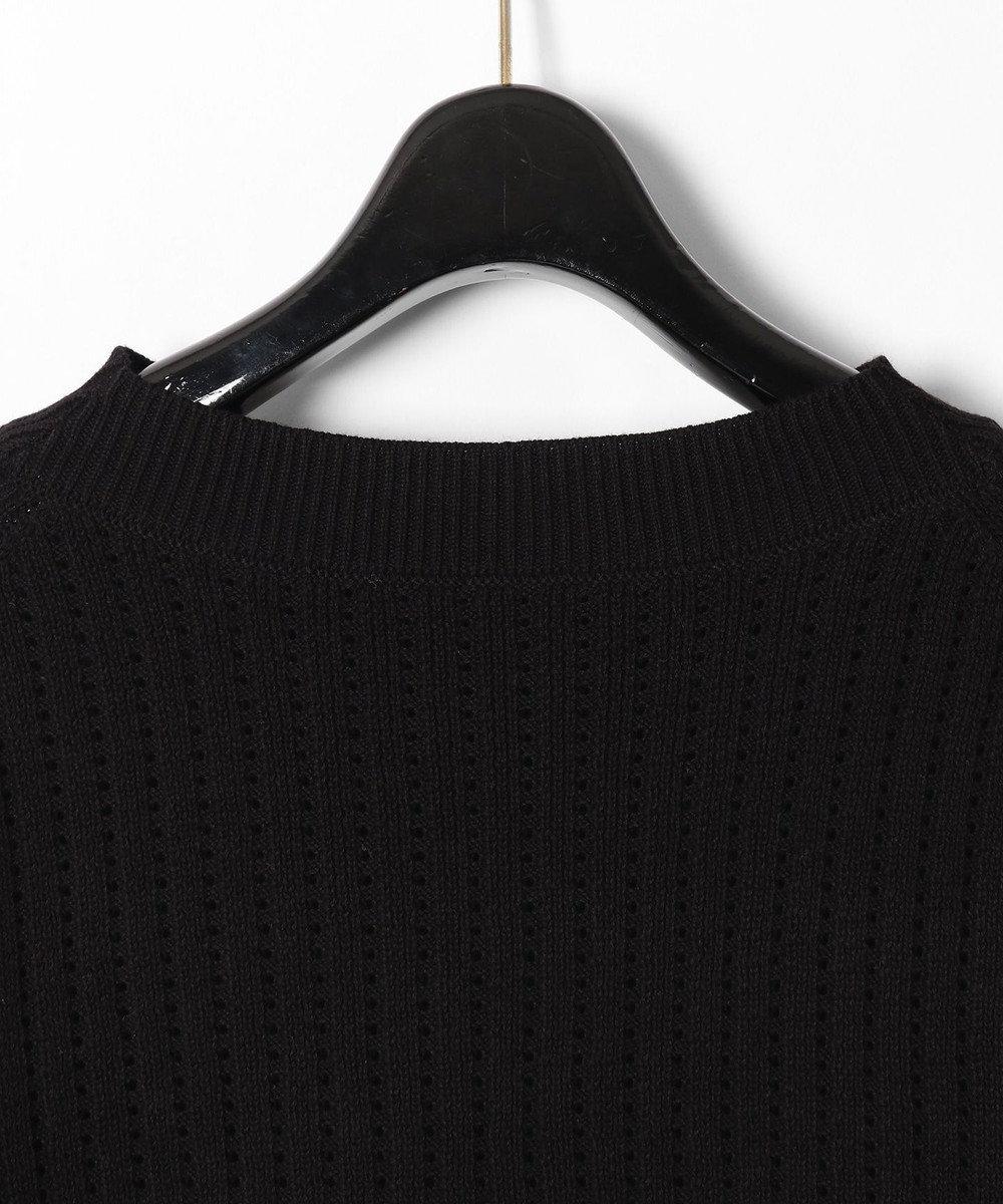 GRACE CONTINENTAL コード刺繍ニットトップ ブラック
