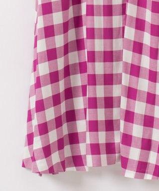 GRACE CONTINENTAL ギンガムカシュクールワンピース ピンク