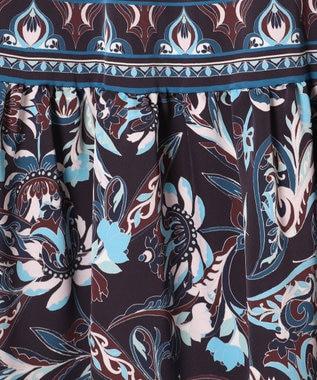 GRACE CONTINENTAL サラサパターンスカート ネイビー