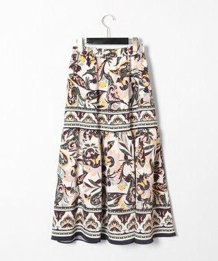 GRACE CONTINENTAL サラサパターンスカート ホワイト