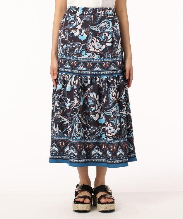 GRACE CONTINENTAL サラサパターンスカート