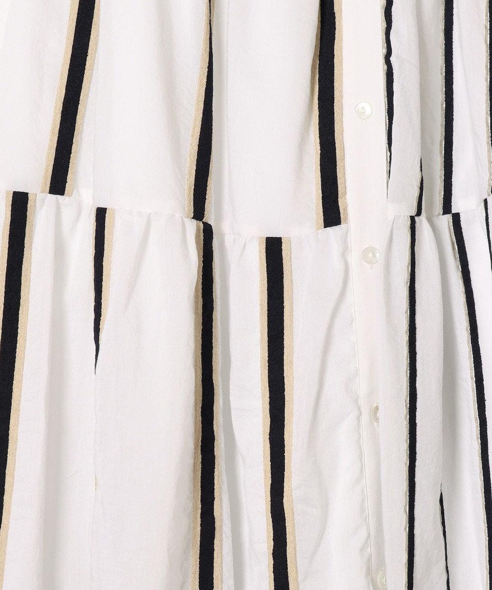 GRACE CONTINENTAL ストライプティアードスカート ホワイト