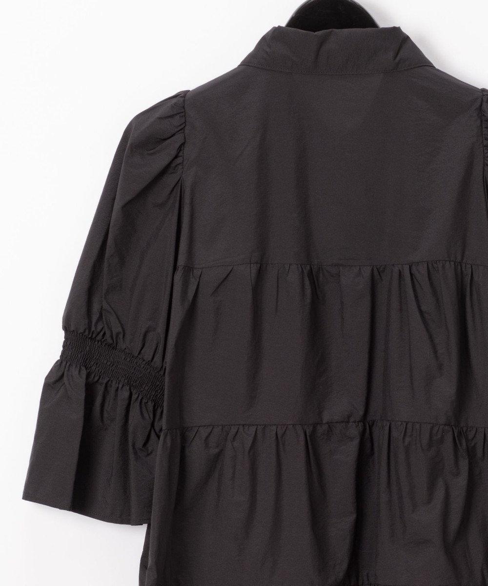 GRACE CONTINENTAL ベルト付ティアードブラウス ブラック