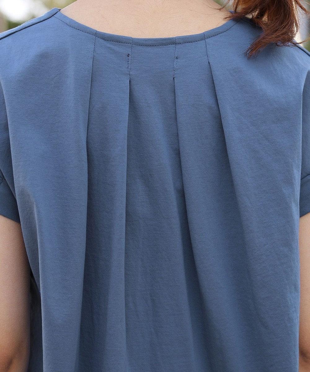 Tiaclasse 【洗える】さらりとした着心地のバイオシルケットTシャツ スモーキーブルー