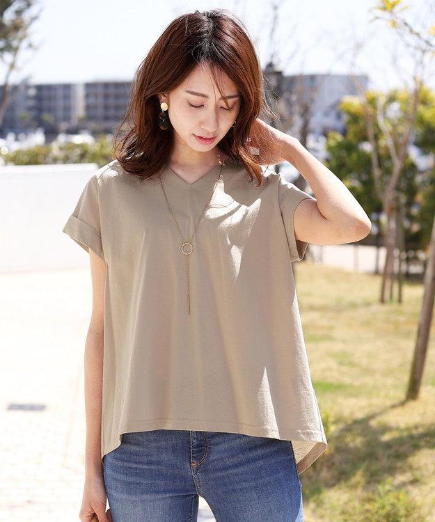 Tiaclasse 【洗える】さらりとした着心地のバイオシルケットTシャツ