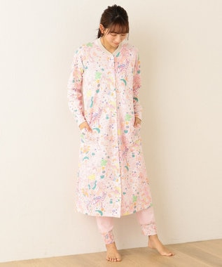 tsumori chisato SLEEP パジャマ 長袖ワンピース&ロングパンツ ナチュラブ柄 /ワコール UDO144 ピンク