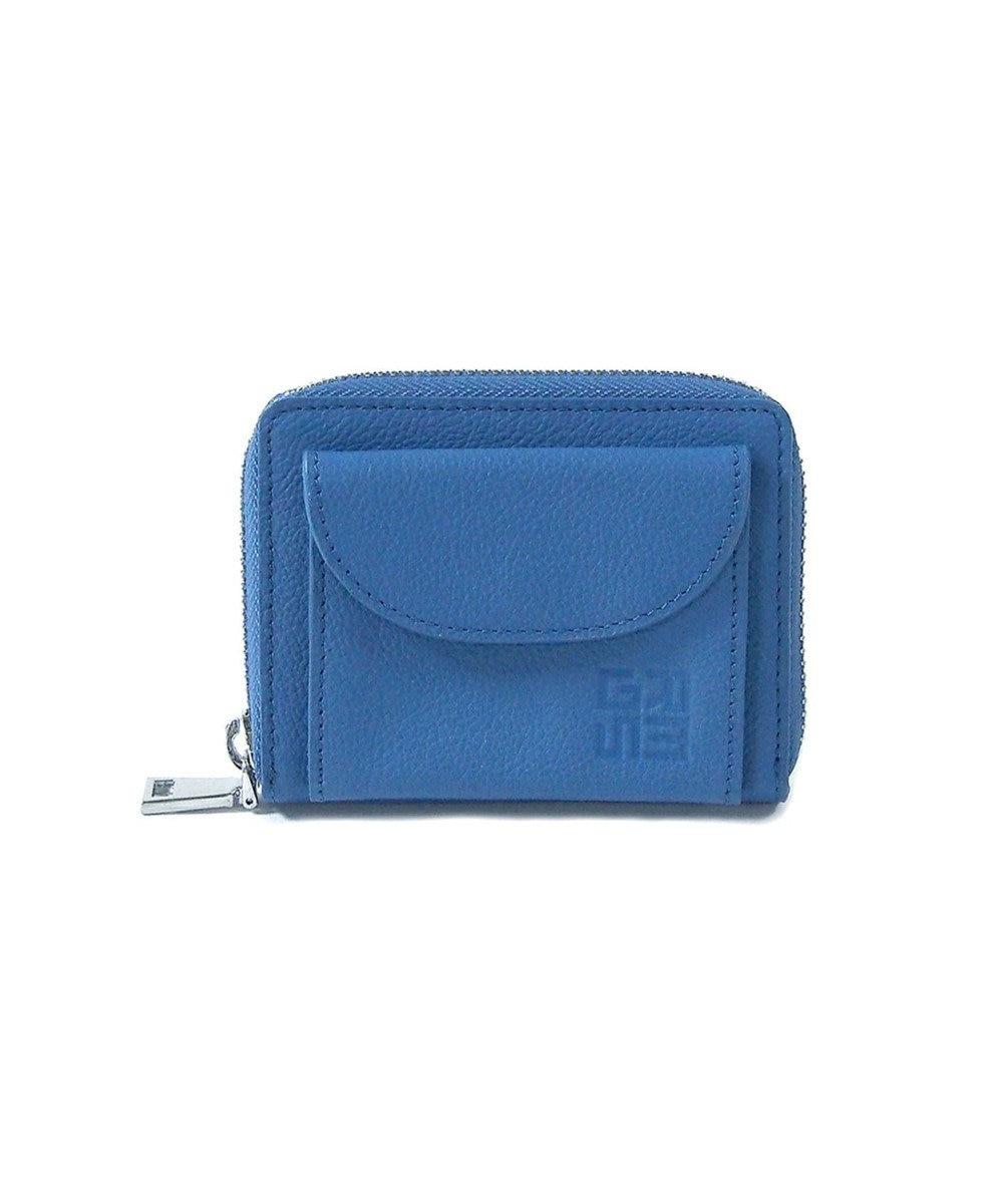 MIYABIYA GRES コパン  コインケース付きレザーミニカードケース ブルー