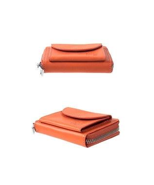 MIYABIYA GRES コパン  コインケース付きレザーミニカードケース オレンジ