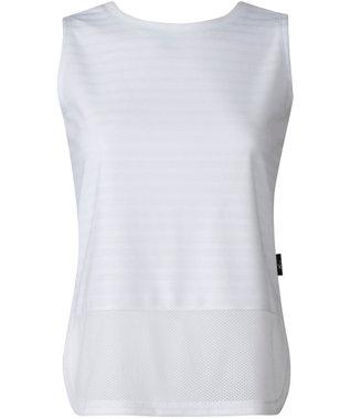 CW-X 【WOMEN】YOGAアウター Tシャツ ノースリーブ /ワコール DFY510 ホワイト
