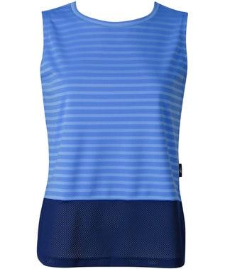 CW-X 【WOMEN】YOGAアウター Tシャツ ノースリーブ /ワコール DFY510 ブルー