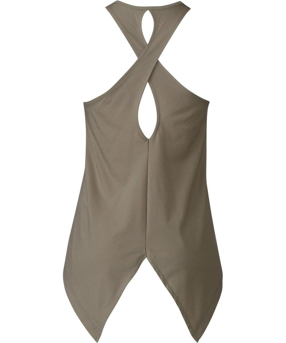 CW-X 【WOMEN】YOGAアウター Tシャツ ノースリーブ  /ワコール DFY540 カーキ