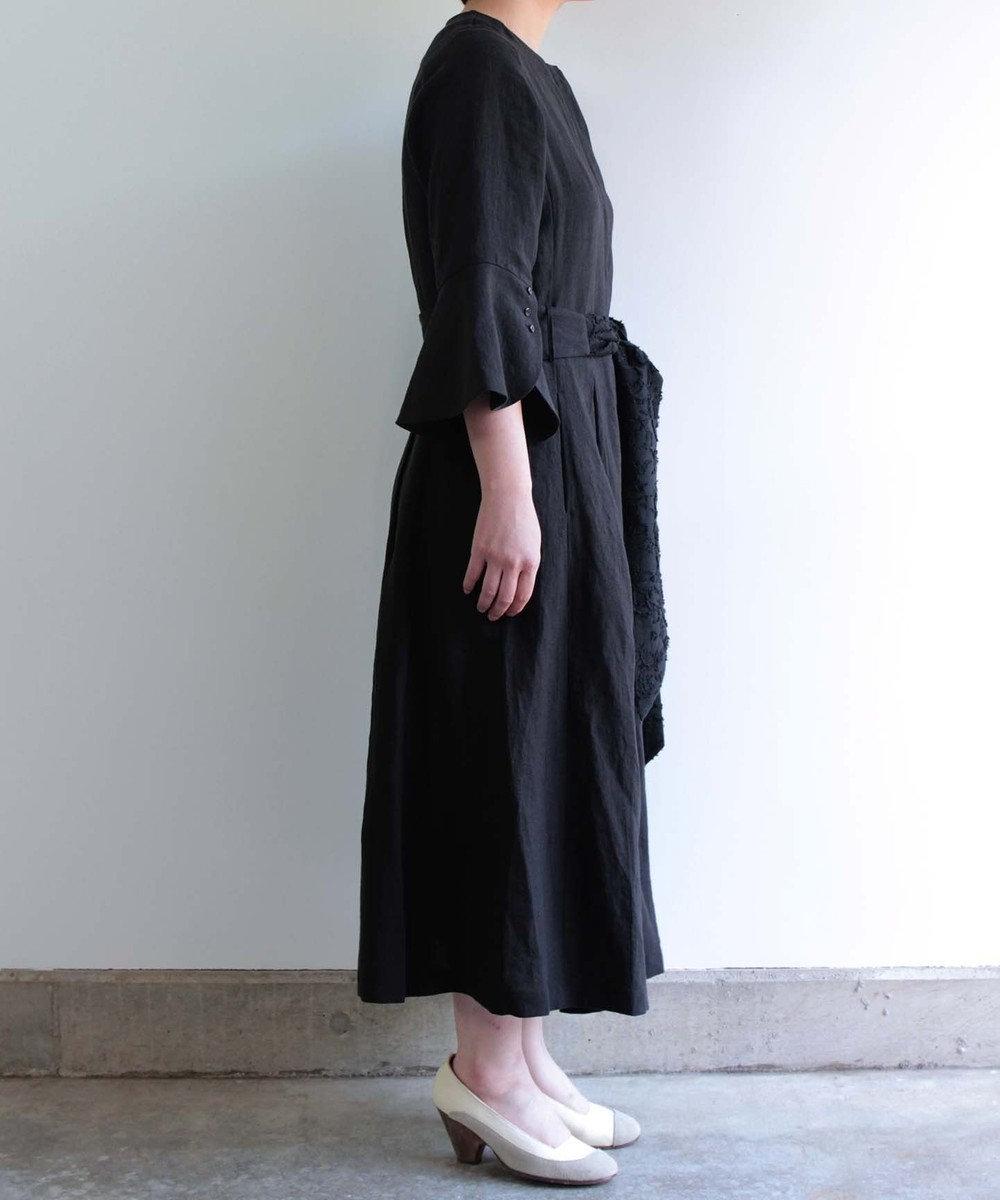 muuc リネンドレスコート ブラック