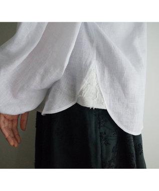 muuc カットジャカードブラウス ホワイト