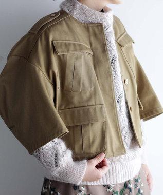 muuc ノーカラー ショートジャケット ベージュ