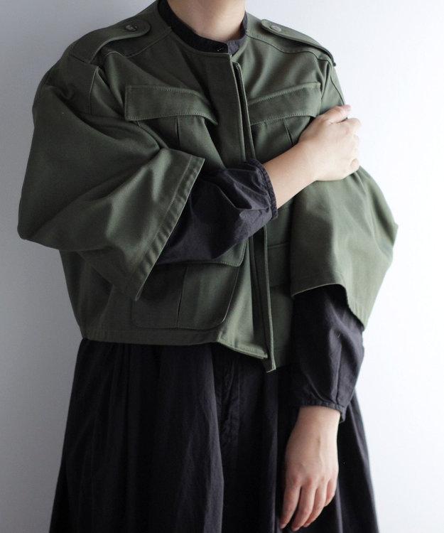 muuc ノーカラー ショートジャケット