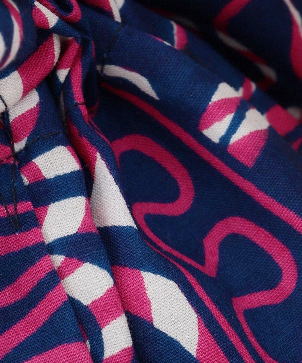 UNBILLION kakatoo アフリカンプリント巾着付ウィローカゴバッグ シルバー