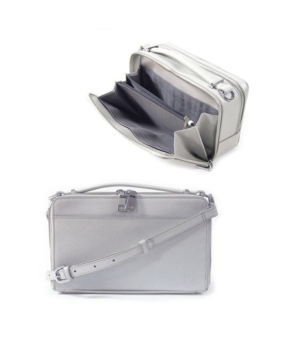 MIYABIYA GRES コパン お財布機能つき2wayレザーショルダーバッグ シルバー