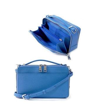 MIYABIYA GRES コパン お財布機能つき2wayレザーショルダーバッグ ブルー
