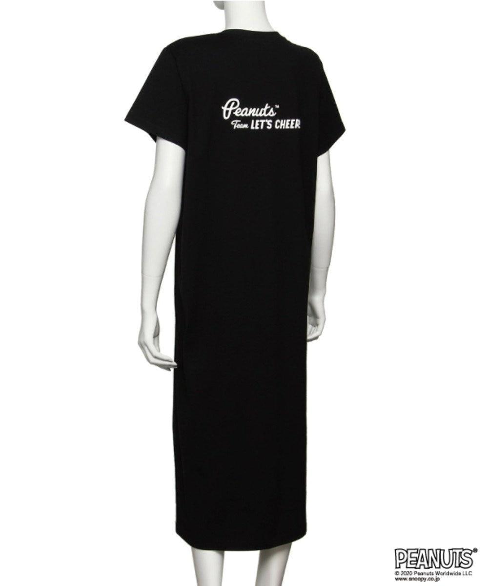 Chut! INTIMATES 【パジャマ・ルームウェア】 ピーナッツ Tシャツ ドレス (C308)スヌーピー ブラック