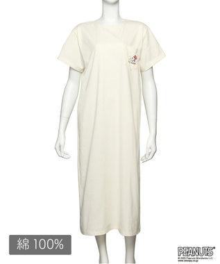 Chut! INTIMATES 【パジャマ・ルームウェア】 ピーナッツ Tシャツ ドレス (C308)スヌーピー ホワイト
