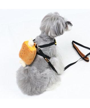 PET PARADISE ペットパラダイス 肉 リュックハーネス&リード  ペットS 〔小型犬〕 茶系
