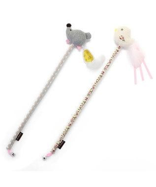 PET PARADISE ペットパラダイス  猫用おもちゃ 猫じゃらし 鳥 ベージュ