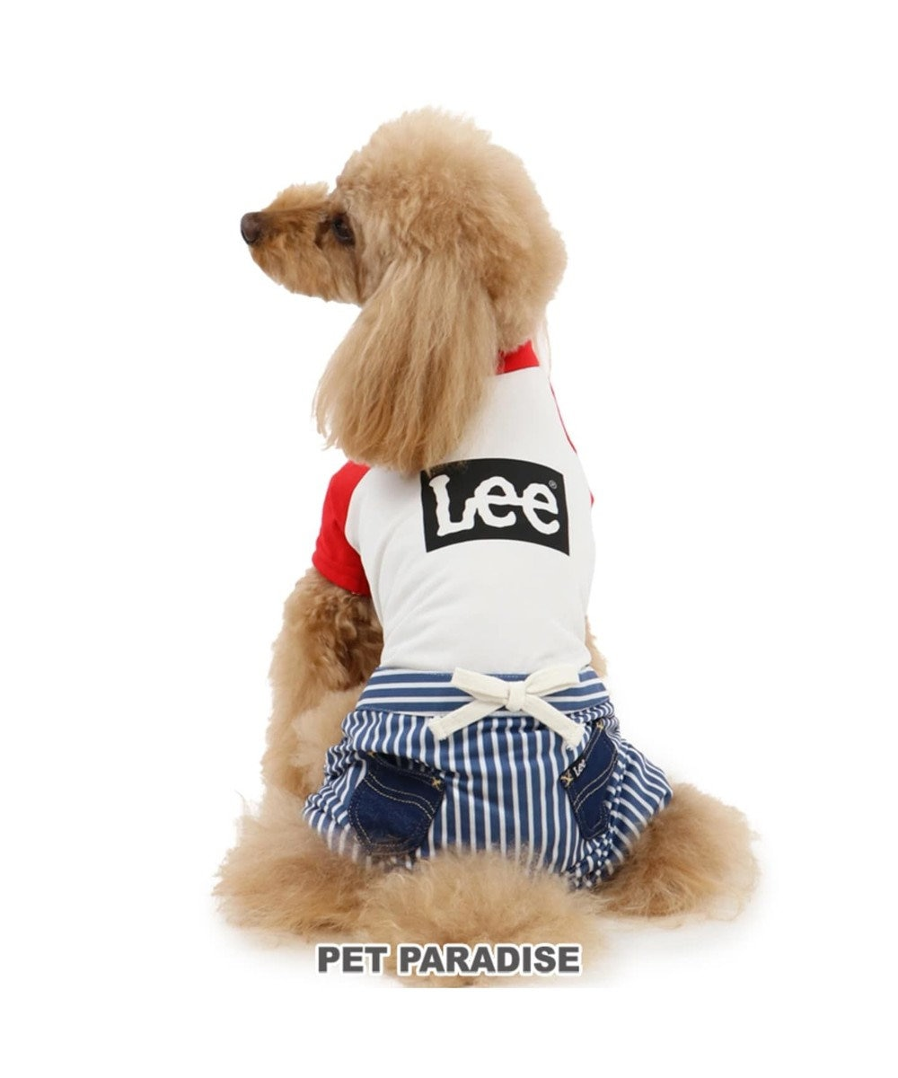 PET PARADISE Lee クールマックス 切り替え ロンパース 白~オフホワイト